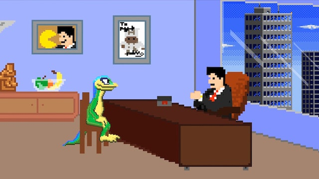 Gex Meets with His Agent