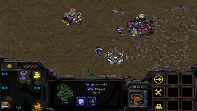 Starcraft SCVs Go on Strike