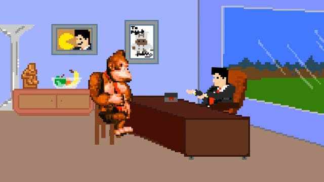 Donkey Kong Meets with His Agent