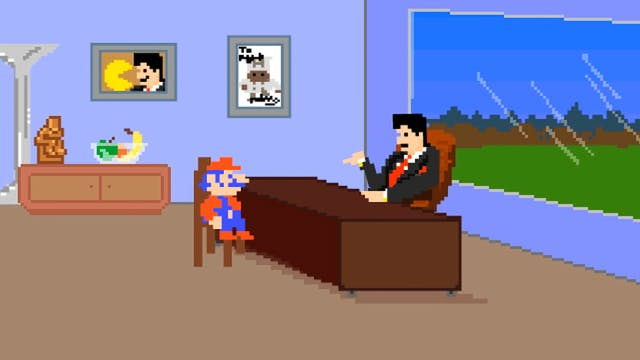Mario Meets with His Agent