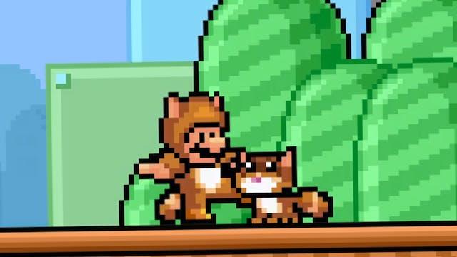 Mario Meets a Real Tanooki