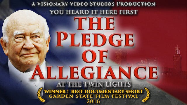 THE PLEDGE OF ALLEGIANCE at the Twin Lights