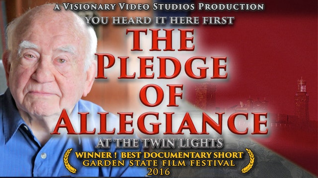 THE PLEDGE OF ALLEGIANCE: at the Twin Lights
