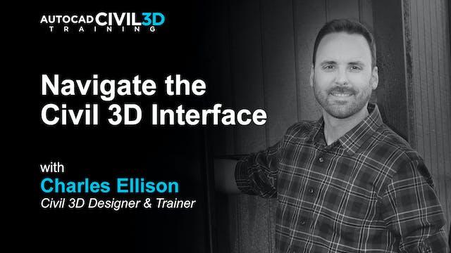 Navigate the Civil 3D Interface