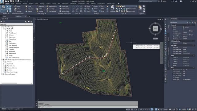 02 Creating and Displaying Surface Profiles with Offsets in Civil 3D