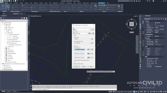 01 Creating Parcels from AutoCAD Objects