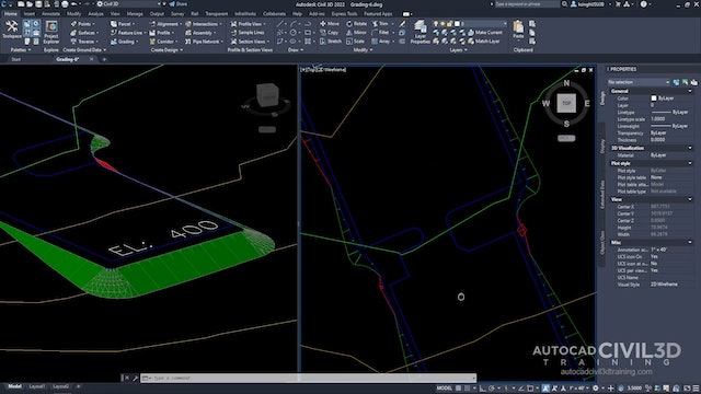 12 Filling Holes in a Grading in Civil 3D