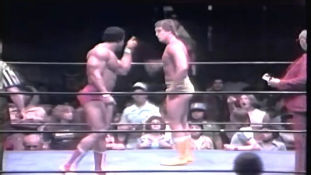 Tony Atlas vs. Jerry Brown ( Gino Hernandez appears)