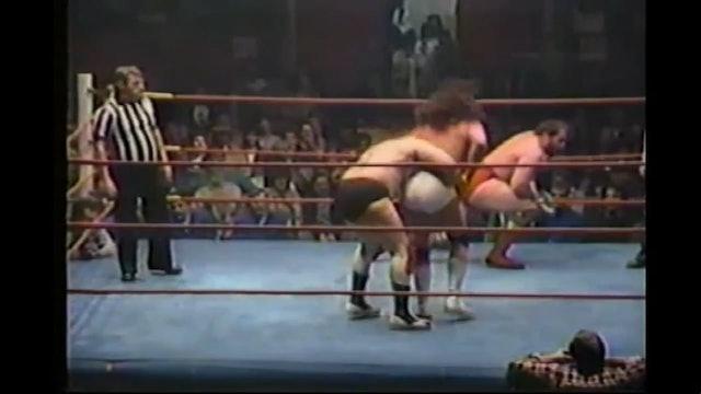 Dino Bravo & Rick Martel vs. Jimmy Garvin & Sheik Ali