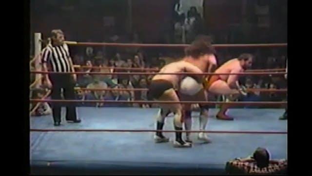 Dino Bravo & Rick Martel vs. Jimmy Ga...