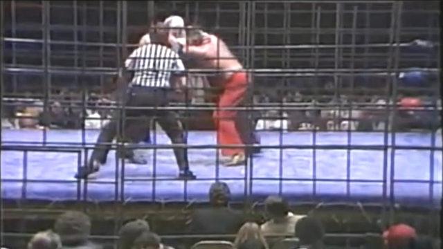 Jake Roberts vs. Lord Humongous (CAGE MATCH)