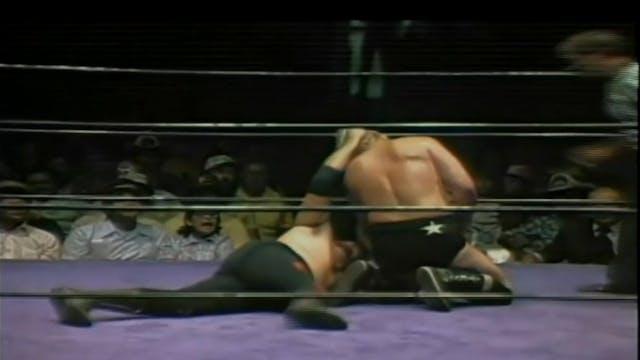 Tully Blanchard, Ken Patera & Tank Patton vs. Bruiser Brody, Many Fernandez, & Bobby Duncan