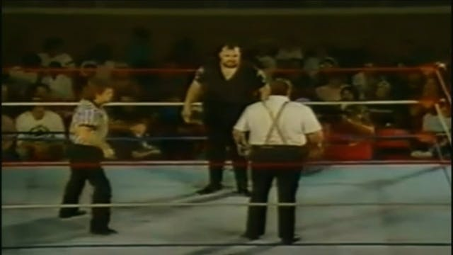 One Man Gang vs. Big Bubba ( UWF Title )