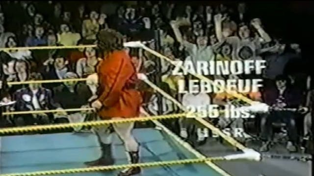 Jos LeDuc vs. Zarinoff Le Boeuf