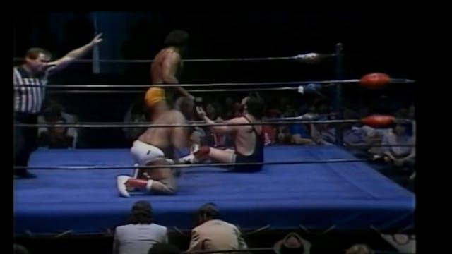 Butch Reed & Iceman Parsons vs. Kamala & Steve Williams