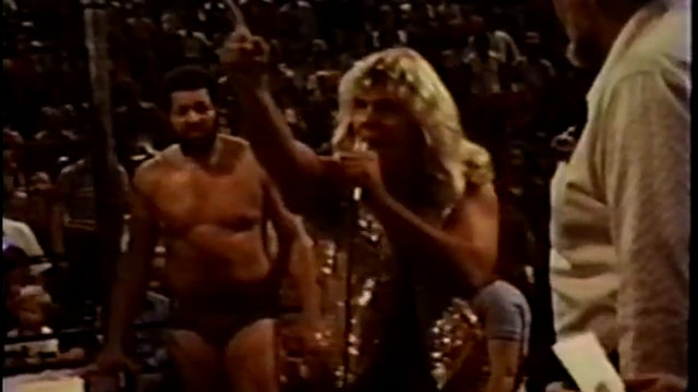 Terry Gordy & Buddy Roberts vs Junkyard Dog & Bill Watts (16mm Footage)