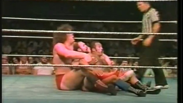 Andre The Giant VS Jose Estrada And Johnny Rodz