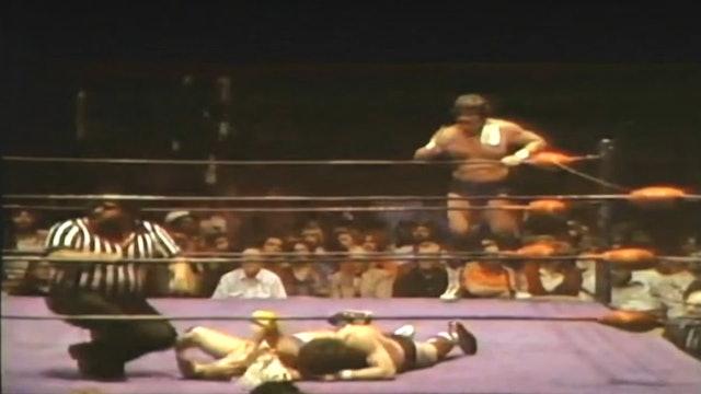 Dick Slater & Tommy Rich vs. Gino Hernandez & Tully Blanchard