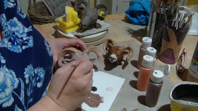 Big Horn Sheep 10 Glazing