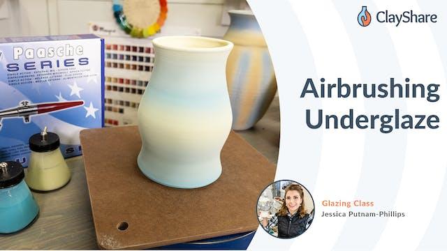 Airbrushing Underglaze