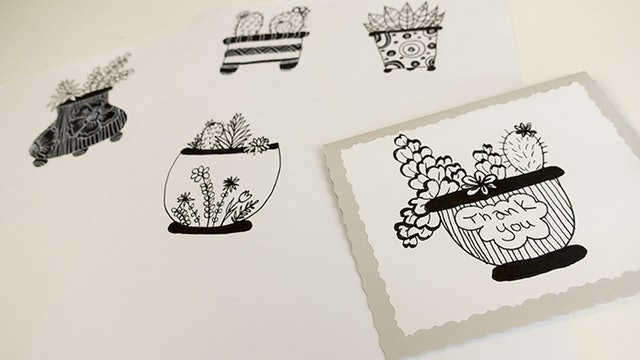 Drawing Plants in Pots