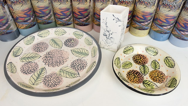 Stamping with Underglaze