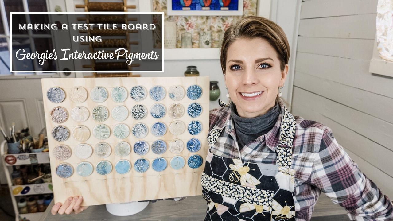 Making A Test Tile Board with Georgie's Interactive Pigments