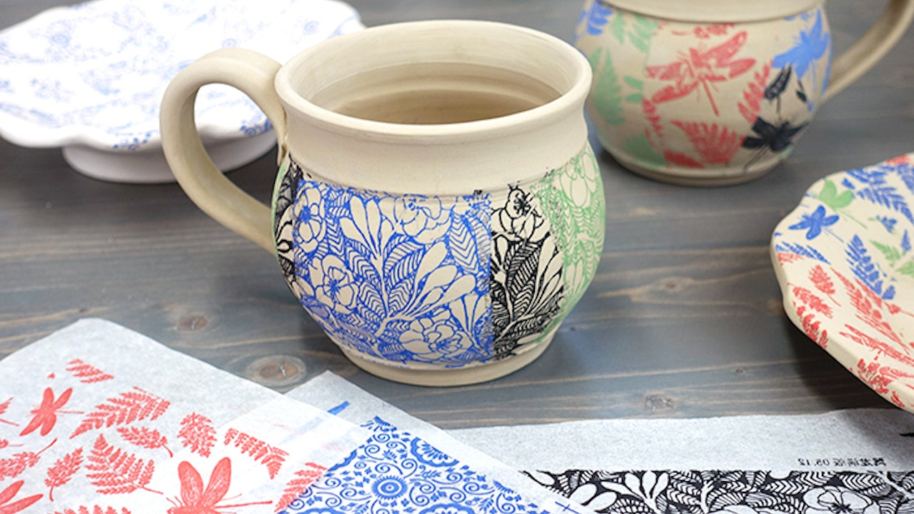Patchwork Pottery with Underglaze Transfers