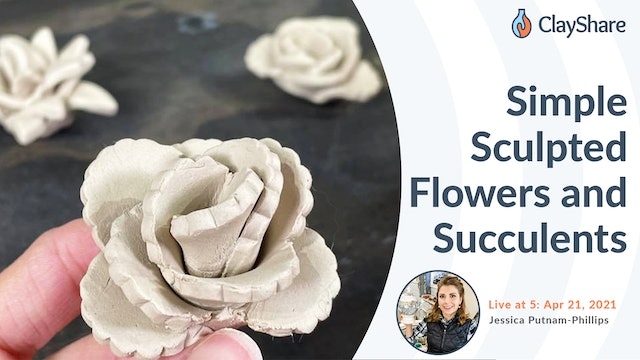 Simple Sculpted Flowers and Succulents