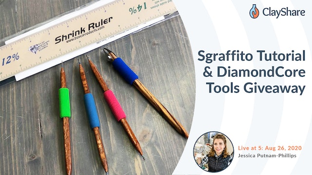 Sgraffito Tutorial and Diamond Core Tools Giveaway
