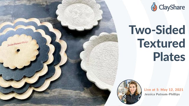 Two-Sided Textured Plates