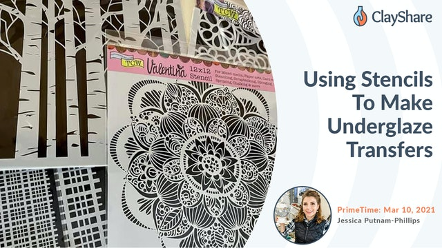Using Stencils to Make Underglaze Transfers