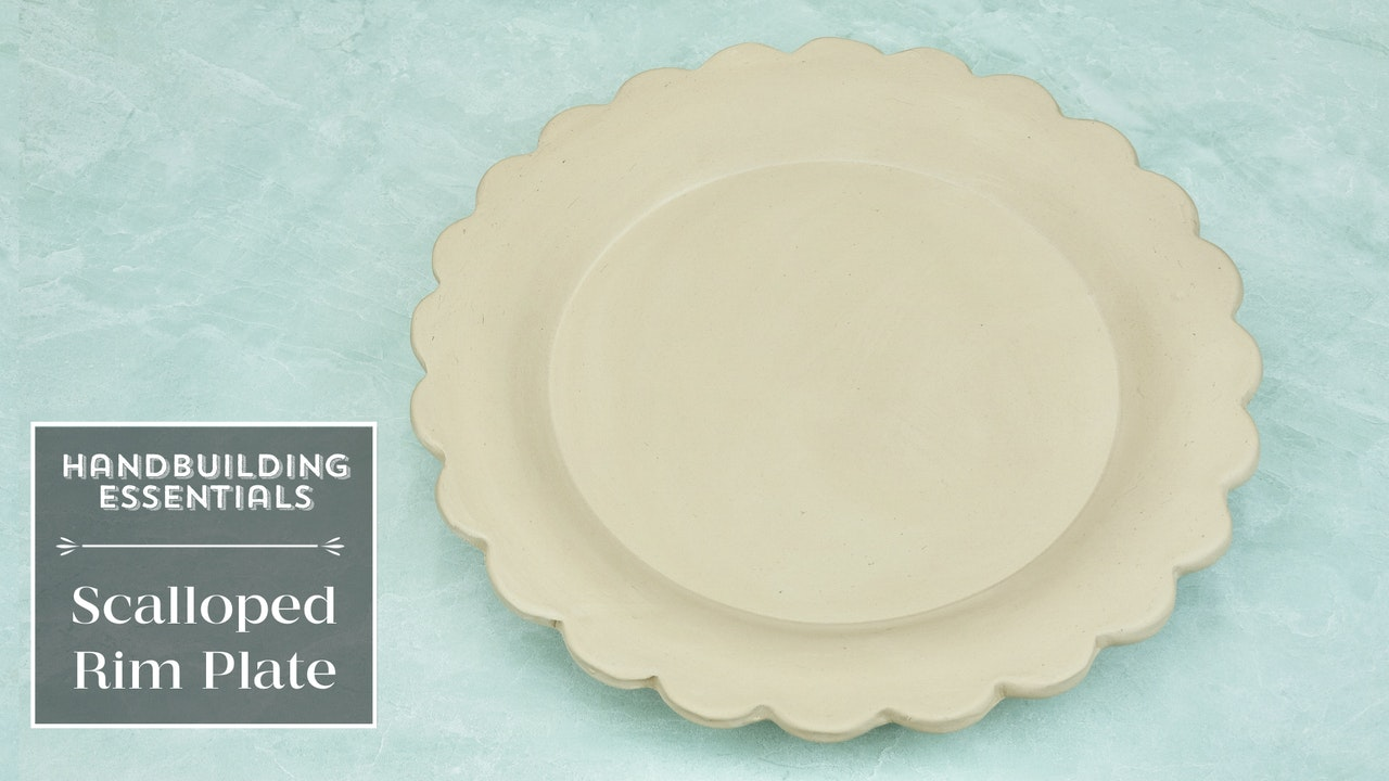 Scalloped Rim Plate