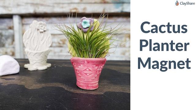 Cactus Planter Magnet