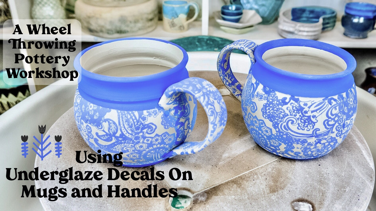 Using Underglaze Transfers on Thrown Mugs