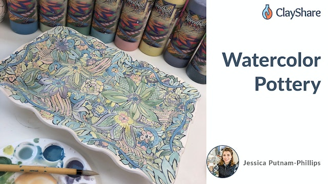 Watercolor Pottery