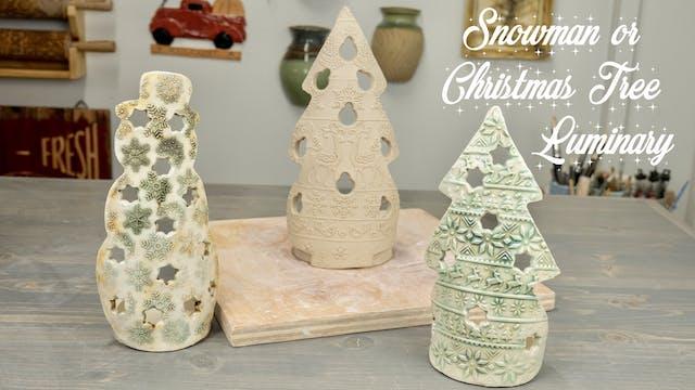 Snowman or Christmas Tree Luminary