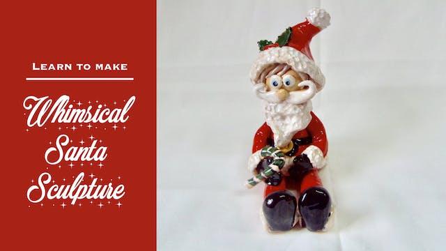 Whimsical Santa Sculpture