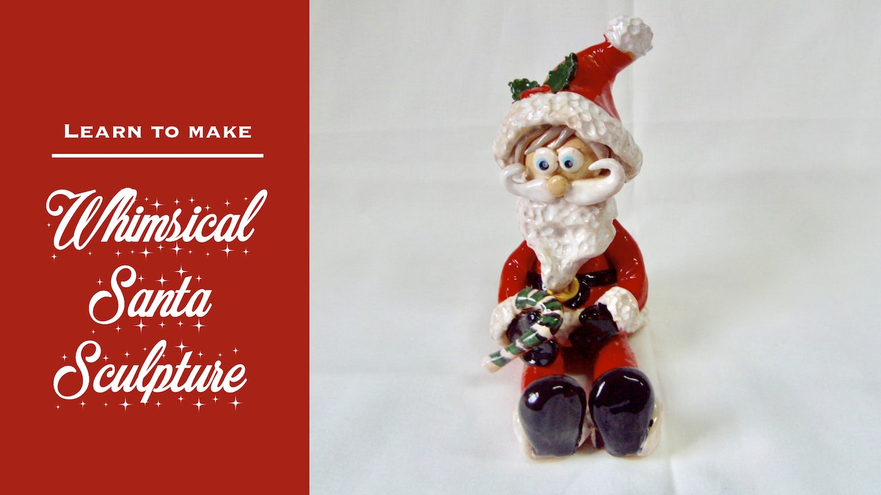 Whimsical Santa Sculpture