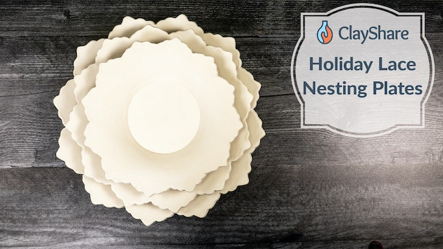 Holiday Lace Plates