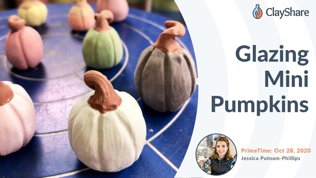 Glazing Mini Pumpkins