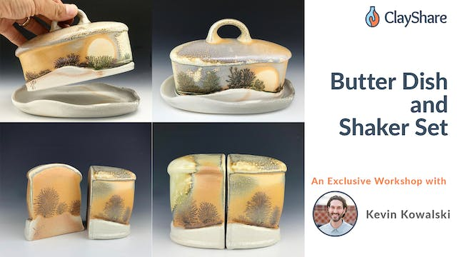Butter Dish and Shaker Set