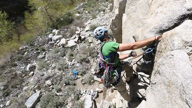 Aid Climbing: 14. How to Pendulum While Leading