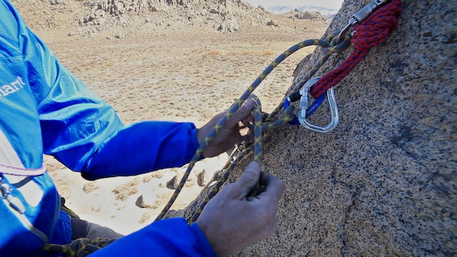 Advanced Rockcraft - How to Escape the Belay with Re-Direct