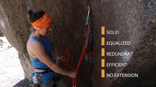 Traditional Climbing: 12. Building Traditional Anchors - Part 2 of 2