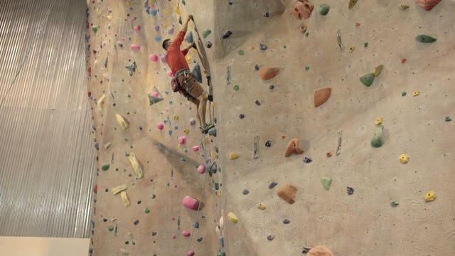 Gym Lead Climbing: 9. Lead Falling