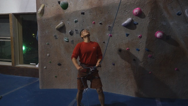 Gym Lead Climbing: 11. Lead Belay Stances