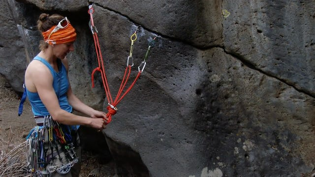 Traditional Climbing: 19. Maximizing Space at the Anchor