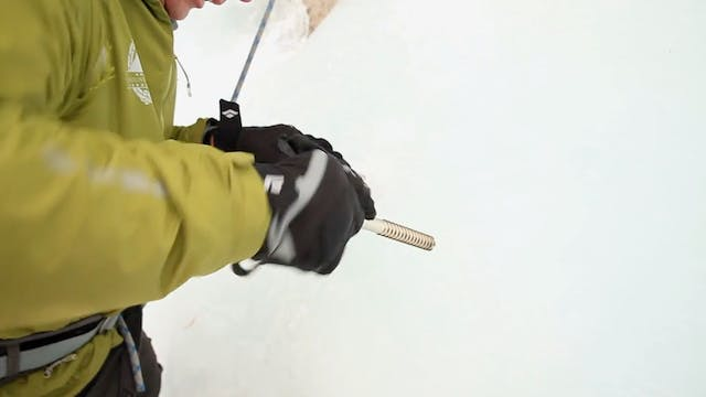 Ice Climbing: 16. Creating V-Thread A...