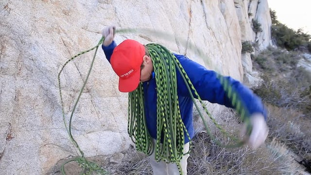 Basic & Intermediate Outdoor Climbing: 15. How To Coil the Rope - Butterfly Coil